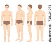 human body anatomy  vector man... | Shutterstock .eps vector #718104076