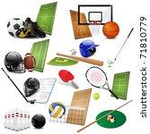 sport icons | Shutterstock . vector #71810779