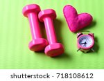 love of sports and early... | Shutterstock . vector #718108612