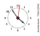 clock face vector illustration. | Shutterstock .eps vector #718112542