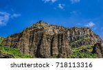 view of mountains landscape in... | Shutterstock . vector #718113316