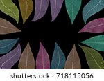 dry leaf detail texture   Shutterstock . vector #718115056
