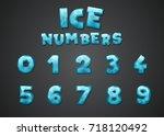 cartoon numbers set. creative... | Shutterstock .eps vector #718120492