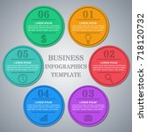 infographic circle template.... | Shutterstock . vector #718120732