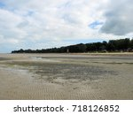 tide out at appley beach on the ... | Shutterstock . vector #718126852