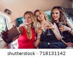 pretty women having party in a