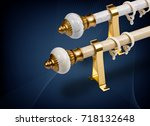 curtain rod and accessories | Shutterstock . vector #718132648