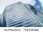 abstract modern architecture... | Shutterstock . vector #718136068