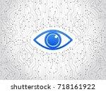 abstract high tech circuit... | Shutterstock .eps vector #718161922