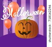 vector background. happy... | Shutterstock .eps vector #718162246