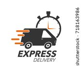 express delivery icon concept.... | Shutterstock .eps vector #718163986