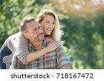 portrait of mature couple... | Shutterstock . vector #718167472
