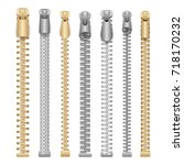 zipper realistic vector....