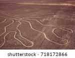 nazca lines in peru. | Shutterstock . vector #718172866