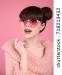 beauty wow. fashion surprise... | Shutterstock . vector #718213432