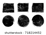 grunge stamps collection.vector ... | Shutterstock .eps vector #718214452