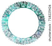 luxurious abstract round frame. ... | Shutterstock .eps vector #718225426