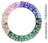 luxurious abstract round frame. ... | Shutterstock .eps vector #718225462