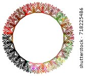 luxurious abstract round frame. ... | Shutterstock .eps vector #718225486