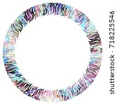 luxurious abstract round frame. ... | Shutterstock .eps vector #718225546