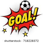goal sign and football ball. | Shutterstock .eps vector #718228372