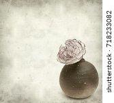 textured old paper background... | Shutterstock . vector #718233082