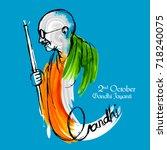 illustration of india... | Shutterstock .eps vector #718240075