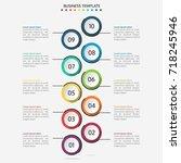 infographic design template.... | Shutterstock .eps vector #718245946