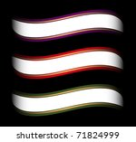 set of colored ribbon template... | Shutterstock .eps vector #71824999