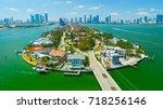 venetian islands  miami beach ...   Shutterstock . vector #718256146