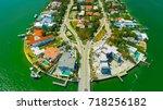 venetian islands  miami beach ...   Shutterstock . vector #718256182