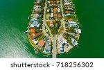venetian islands  miami beach ...   Shutterstock . vector #718256302