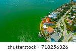 venetian islands  miami beach ...   Shutterstock . vector #718256326