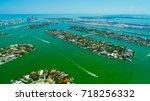 venetian islands  miami beach ...   Shutterstock . vector #718256332