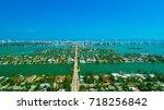 venetian islands  miami beach ...   Shutterstock . vector #718256842