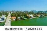 venetian islands  miami beach ...   Shutterstock . vector #718256866