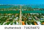 venetian islands  miami beach ...   Shutterstock . vector #718256872