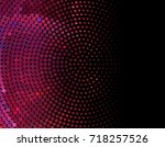 abstract halftone background.... | Shutterstock . vector #718257526