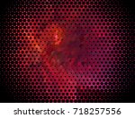 abstract halftone background.... | Shutterstock . vector #718257556
