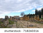 remains of ancient city of... | Shutterstock . vector #718260316
