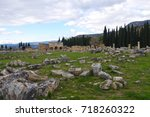 remains of ancient city of... | Shutterstock . vector #718260322
