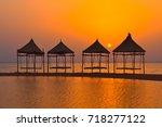 tropical landscape at sunrise   Shutterstock . vector #718277122