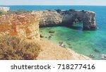 coastline algarve portugal   Shutterstock . vector #718277416