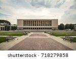 naples   june 6  mostra d... | Shutterstock . vector #718279858