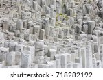 enigmatic basalt columns at...   Shutterstock . vector #718282192