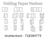 folding paper vectors   Shutterstock .eps vector #718284775