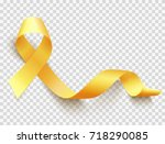 realistic gold ribbon ... | Shutterstock .eps vector #718290085