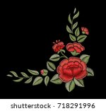 embroidery. decorative element. ... | Shutterstock .eps vector #718291996