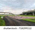 road overpass | Shutterstock . vector #718299112
