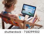 travel booking concept  tours ... | Shutterstock . vector #718299502